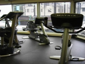fitness center at Landmark on The Lake
