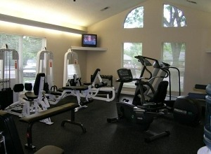 on site gym at the peachtree apartments