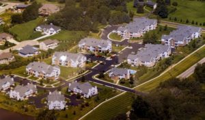 Boulder creek apartments view from above